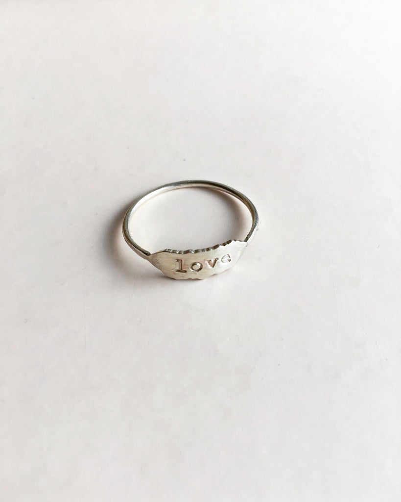 love letters ring in sterling silver - rebelbyfate jewelry