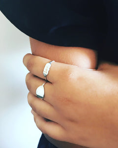 love letters ring in sterling silver - andJules Jewelry