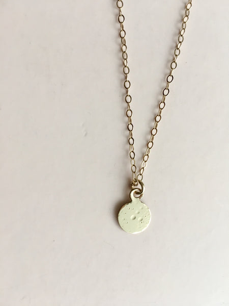 tiny lullaby moon necklace in 14k gold-filled