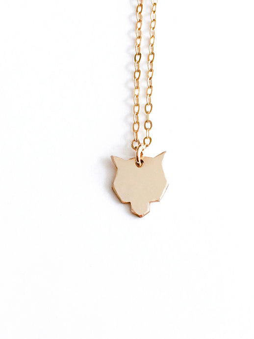 lone wolf necklace - andJules Jewelry