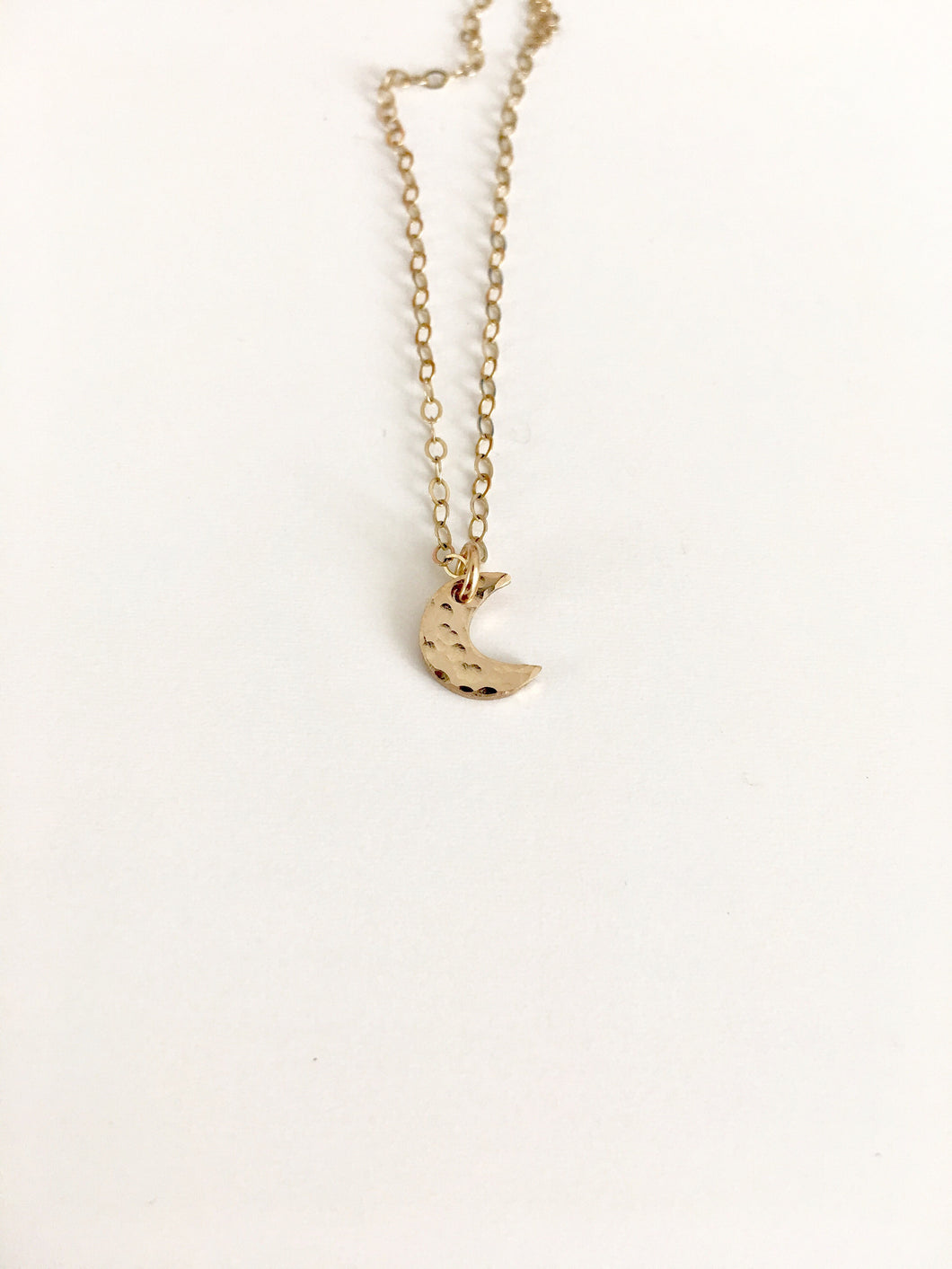 mini mystic crescent moon necklace, gold + silver - andJules Jewelry
