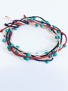 chill beaded turquoise bracelet, single colours - andJules Jewelry