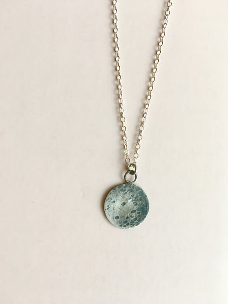 lullaby full moon necklace in sterling silver