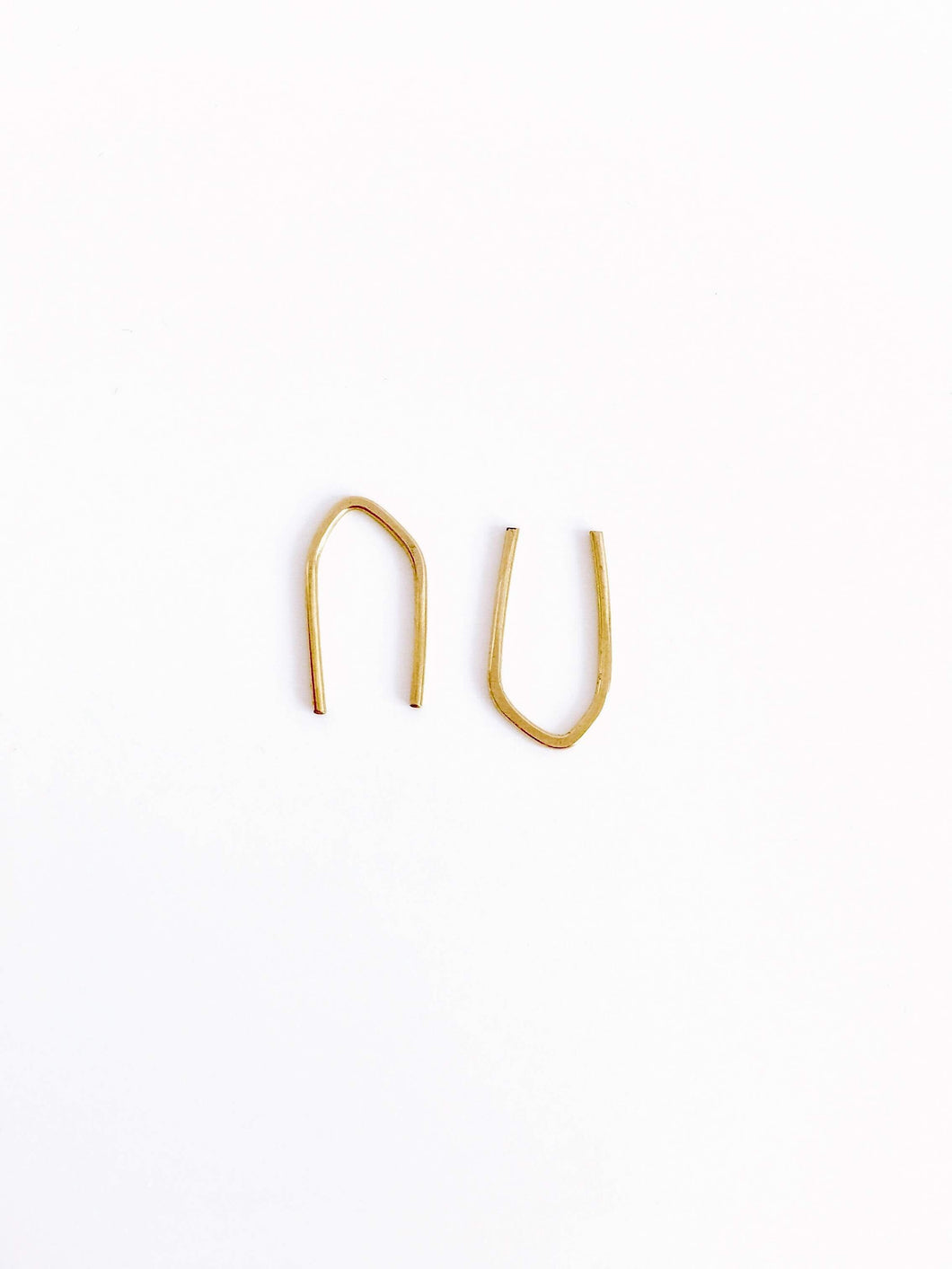 14k gold brave arc earrings, single or pair - andJules Jewelry