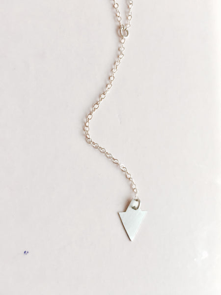 small starlet lariat necklace in silver or gold