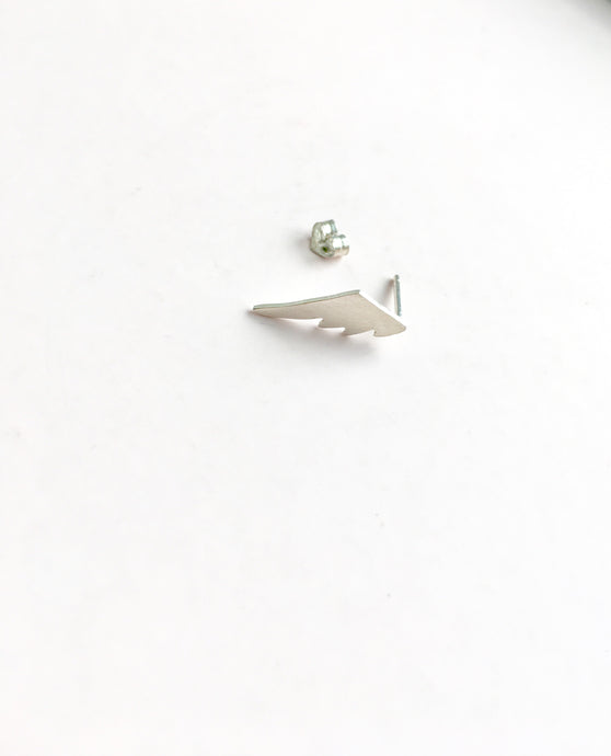 angel wing stud earrings - andJules Jewelry