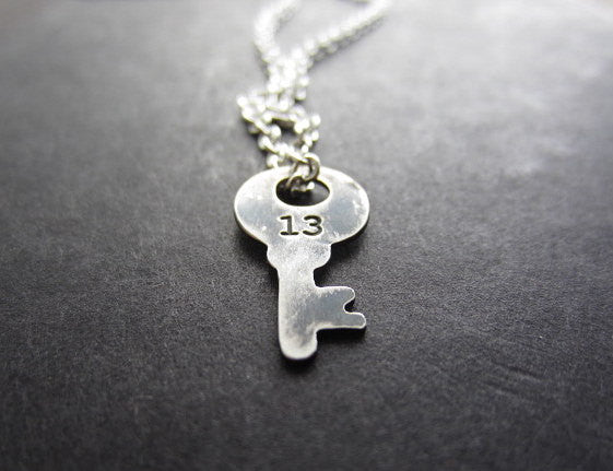 lucky 13 key necklace - rebelbyfate jewelry