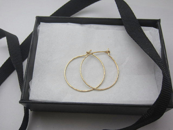 hoop earrings in gold + silver
