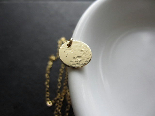 lullaby small full moon necklace (gold + silver) - rebelbyfate jewelry