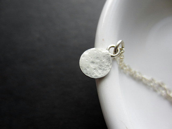 tiny lullaby moon necklace in sterling silver - rebelbyfate jewelry