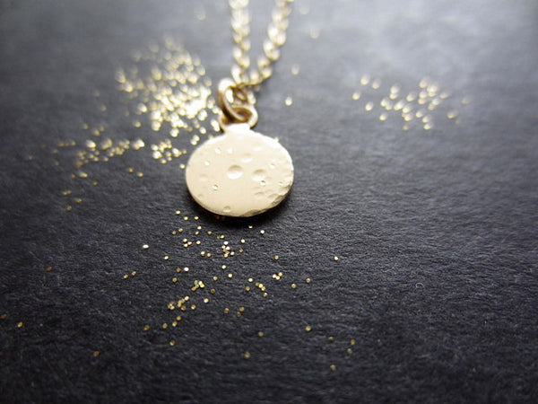 tiny lullaby moon necklace in 14k gold-filled - rebelbyfate jewelry