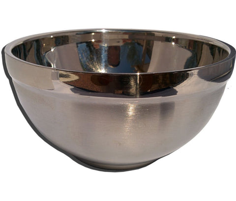 Insulated Extra Large Stainless Steel Shaving Bowl