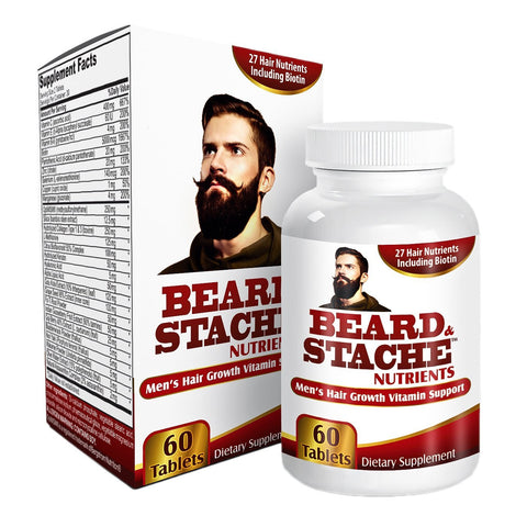 Beard & Stache Growth Vitamins/Supplements
