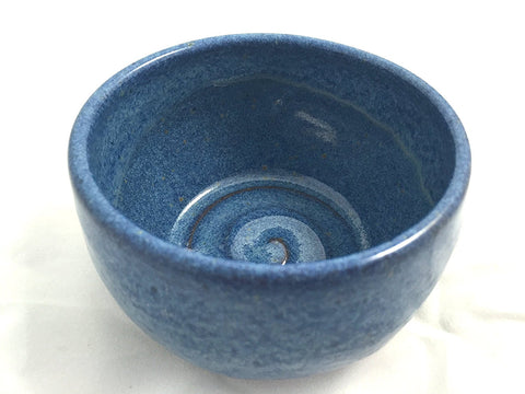 Pottery Blue Shaving Soap Bowl