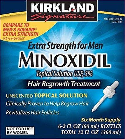 Kirkland Minoxidil 5% Extra Strength Hair Regrowth for Men