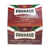 Proraso Red Shaving Soap for Coarse Beard with Sandalwood And Shea Butter