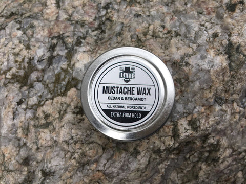 Cedar & Bergamot Extra Firm Hold Mustache Wax