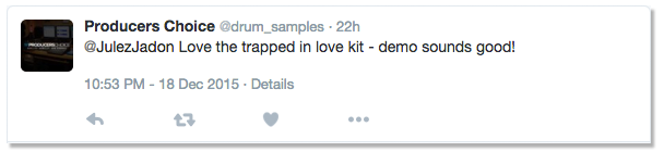 Trapped In Love Drum Kit Testimonial