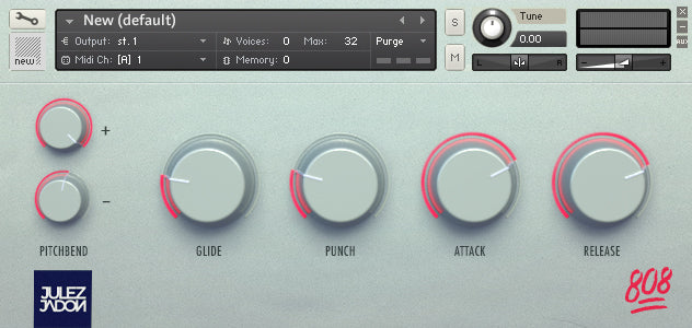 Hot Sauce The 808 Pack Vol. II Interface