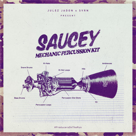 Saucey Mechanic Percussion Kit