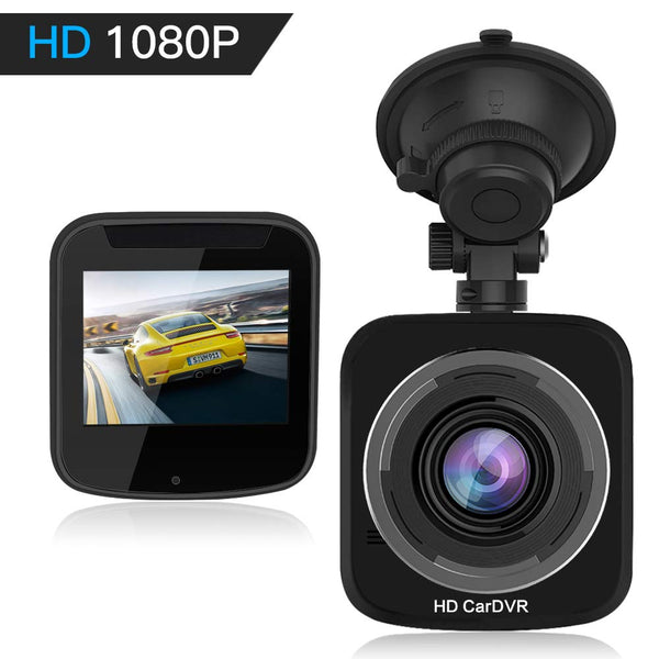 Upgraded Car Dash Cam WiFi Mini Dashcam HQBKiNG FHD 1080P Car Dashboard  Camera with Night Vision Magnetic 360° Rotating Stand G-Sensor Loop  Recording