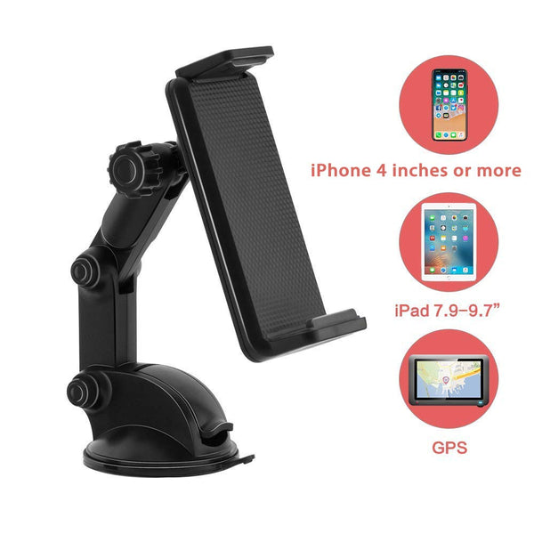 UOON Car Phone Mount, Dashboard/Windscreen Sticky Suction Pad Car Mount  Phone Holder, Evolutionary upgrade version, Suitable for Cell Phones,