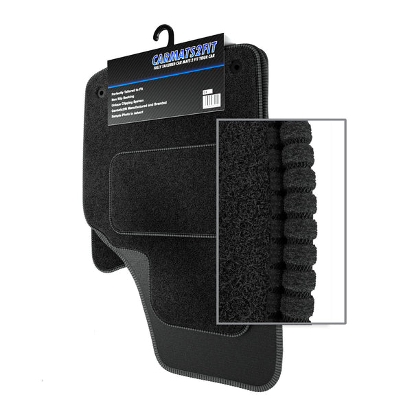 View of a collection of custom car mats, specifically Volvo S40 / V40 (2004-2012) Custom Carpet Car Mats