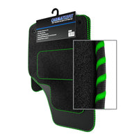 View of a collection of Tailored custom car mats, specifically Honda HRV 3DR (1999-2005) Custom Carpet Car Mats