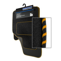 View of a collection of Tailored custom car mats, specifically BMW 5 Series F11 (2010-present) Custom Carpet Car Mats