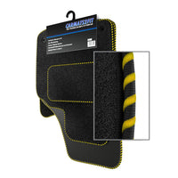 View of a collection of Tailored custom car mats, specifically Hyundai Santa Fe (2001-2006) Custom Carpet Car Mats
