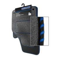View of a collection of Tailored custom car mats, specifically Chevrolet Spark (2013-2015) Custom Carpet Car Mats