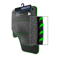 View of a collection of Tailored custom car mats, specifically Jaguar X Type Automatic (2001-2010) Custom Carpet Car Mats