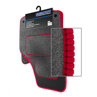 View of a collection of Tailored custom car mats, specifically Alfa Romeo 164 (1988-1997) Custom Carpet Car Mats