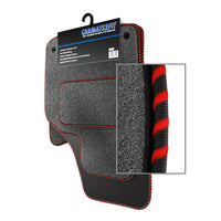View of a collection of Tailored custom car mats, specifically BMW Mini R53 Cooper S (2001-2006) Custom Carpet Car Mats