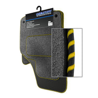 View of a collection of Tailored custom car mats, specifically Hyundai Accent (2000-2006) Custom Carpet Car Mats