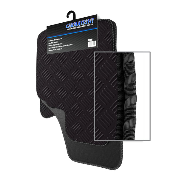 View of a collection of custom car mats, specifically Chrysler Delta Automatic (2011-2013) Custom Car Mats