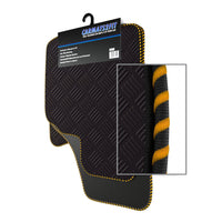 View of a collection of Tailored custom car mats, specifically Aston Martin Vantage (2005-present) Custom Car Mats
