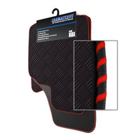 View of a collection of Tailored custom car mats, specifically Honda CRV Manual (1997-2001) Custom Car Mats