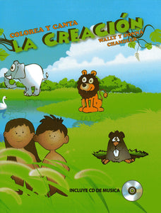 Creation, Coloring Book and Sing-a-Long CD (Spanish)