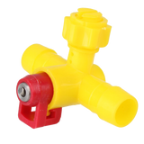 Chicken Duck 360 Degree Nipple Tee With Ball Valve Water Drinking Drinker Poultry Farm Use