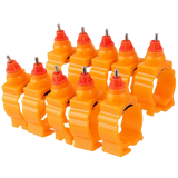 Chicken Duck Spring Style 360 Degree Nipple Water Drinking Drinker Poultry Farm Use Orange
