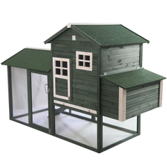 Pawhut Wooden Backyard Poultry Hen House Chicken Coop