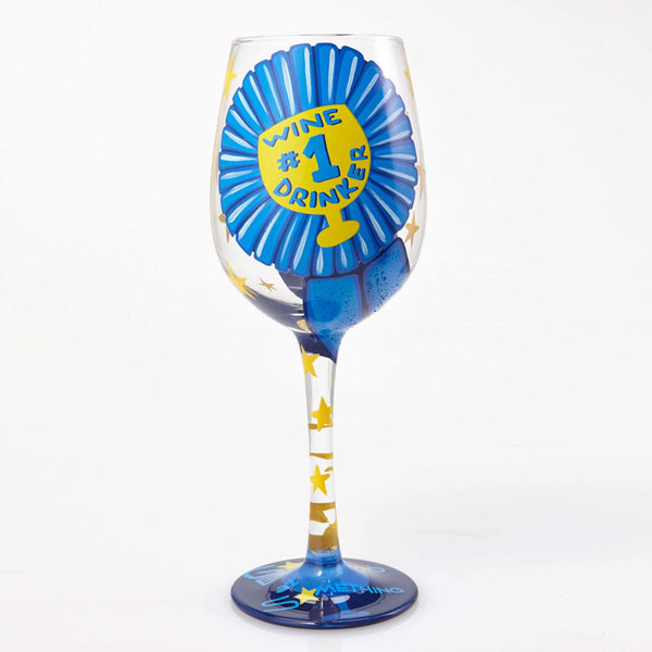 #1 Wine Drinker Wine Glass by Lolita®