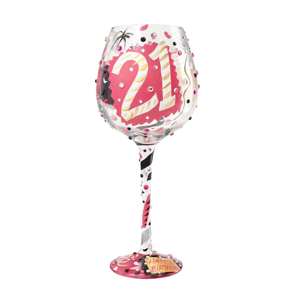 21 Super Bling Wine Glass by Lolita®