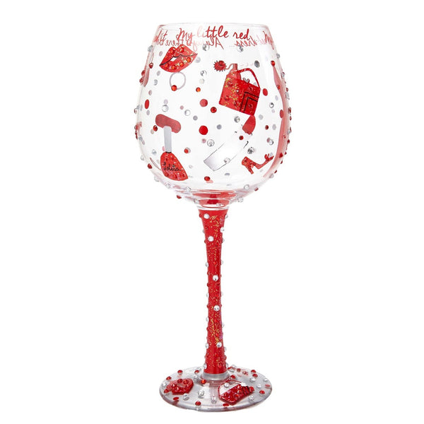 Lil' Red Dress Super Bling Wine Glass by Lolita®