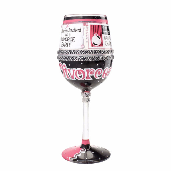 Happily Divorced Wine Glass by Lolita®