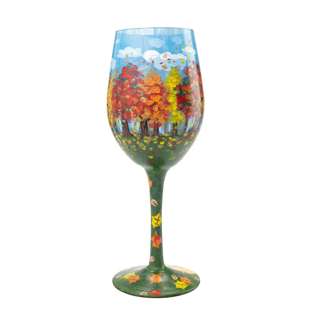 Autumn Glory Wine Glass by Lolita®