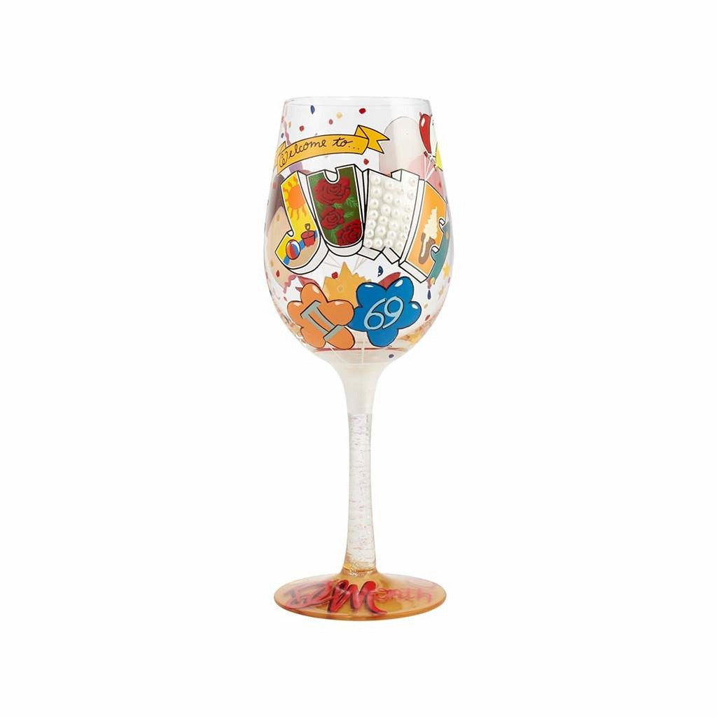 June Birthday Wine Glass by Lolita®