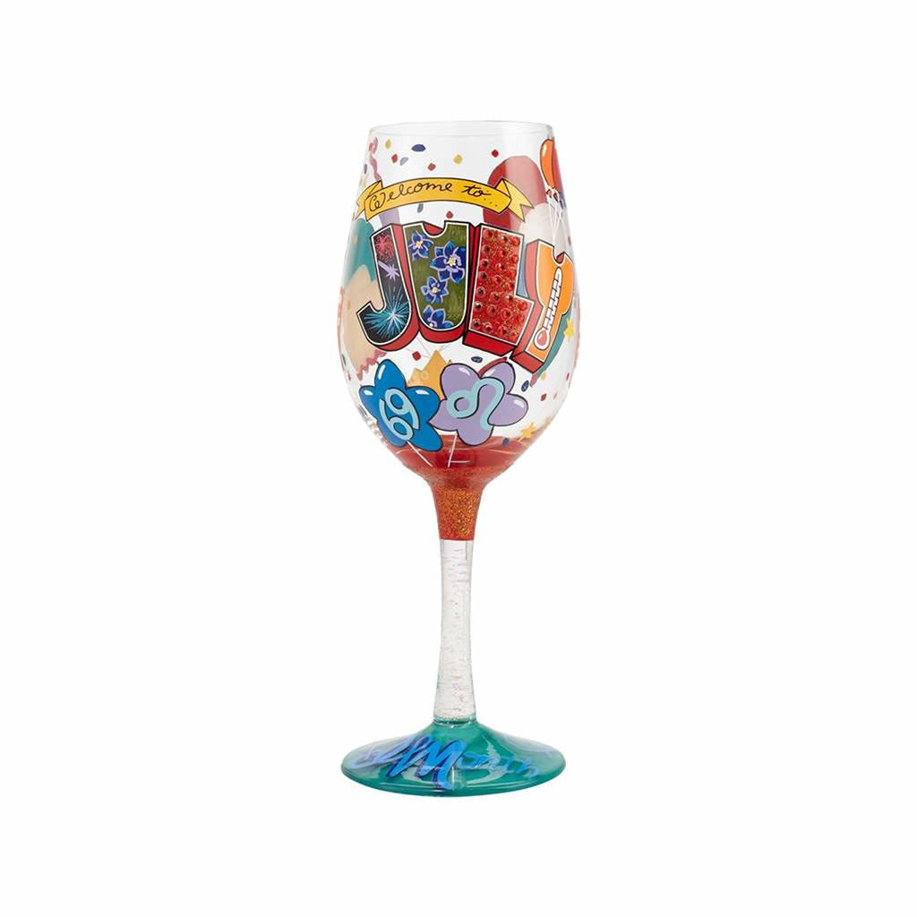 July Birthday Wine Glass by Lolita®