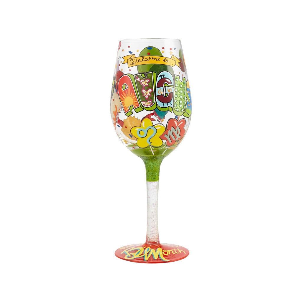 August Birthday Wine Glass by Lolita®